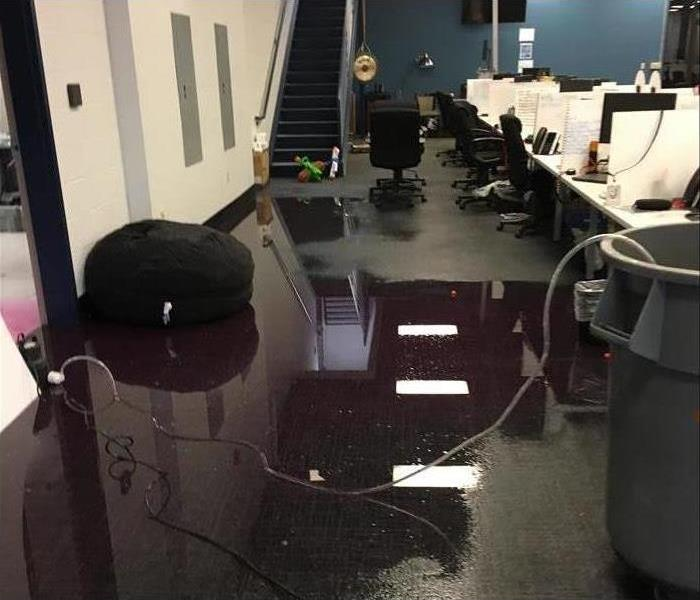 Flooded commercial office