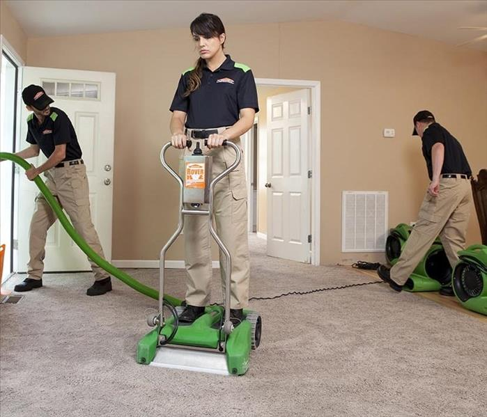 SERVPRO team is cleaning up to standard